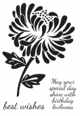 Woodware - Bold Blooms Julia - Clear Magic Stamp Set - JGS545